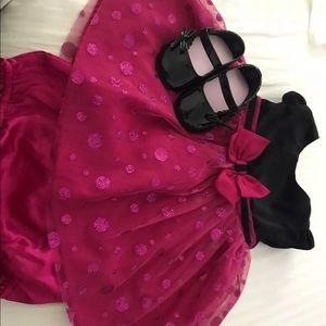 Baby Girl Dress & Black Shoes